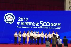 年富供应链荣获2017中国民营企业500强